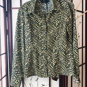 Long sleeve blouse shirt boutique- small